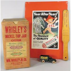 Collection of Wrigley Chewing Gum Items