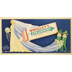Wrigley's Spearmint Trolley Car Sign