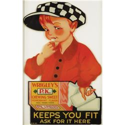 Wrigley's P.K. Chewing Gum Door Decal