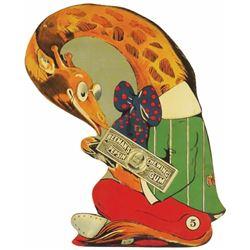 Die Cut Tin sign, Beeman's Pepsin Gum, #5 Giraffe