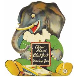 Die Cut Tin sign for Adam's Pepsin, # 3 Elephant