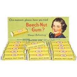 Beech-Nut Gum Cardboard Ink Blotter & Gum Packs