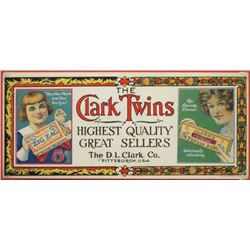 The Clark Twins Cardboard Sign