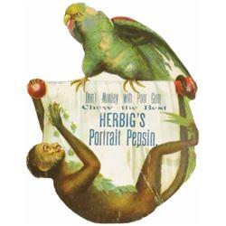Herbig's Portrait Pepsin Die Cut Cardboard Sign