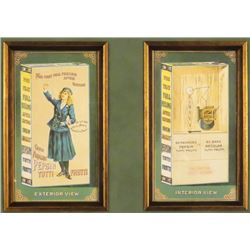 Two Adams Pepsin Tutti Frutti Trade Cards
