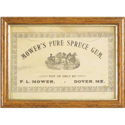 Mower's Pure Spruce Gum Advertisement