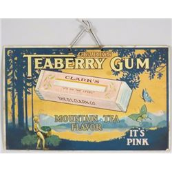 Teaberry Gum Cardboard String Hanging Sign