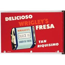Spanish Wrigley's Tin Flange Sign