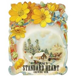 Fitch's Standard Heart Chewing Gum Sign