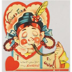 Valentines Card, Want you for my Sweetie by Gum