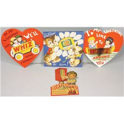 """Collection of Valentines and """"By Gum"""" Cards"""