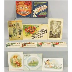 Collection of Chewing Gum Trade Cards