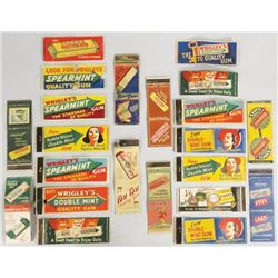 Collection of 24 Chewing Gum Match Books