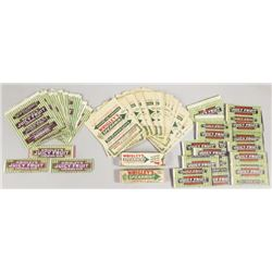 Collection of Wrigley's Chewing Gum Wrappers