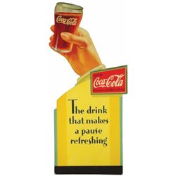 Very Rare 1933 Coca Cola Cardboard Sign