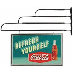 Two sided Coca Cola Hardboard Sign