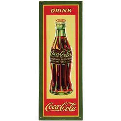 1931 Coca Cola Embossed Tin Door Push