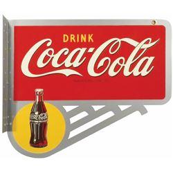 1940's Coca Cola Tin Flange Sign