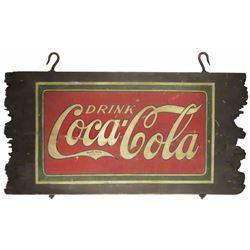 Brown's Pharmacy Coca Cola Wood Sign