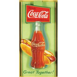 1932 Coca Cola  Cardboard Cut Out Bottle Signs
