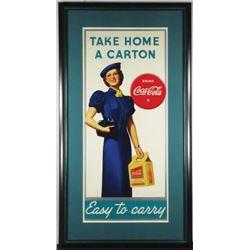 1938 Coca Cola Cardboard Sign, Cardboard Carton