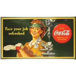 1943 Coca Cola Cardboard Sign