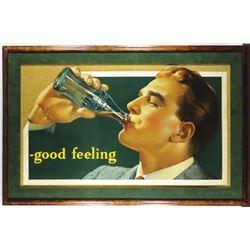 1939 Coca Cola Die Cut Cardboard Sign