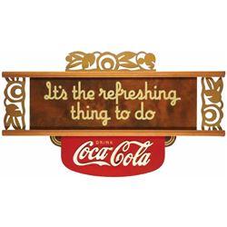 1940's Coca Cola Kay Display Masonite Sign