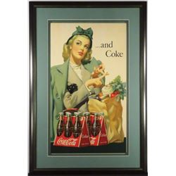 1930's Coca Cola Cardboard Sign