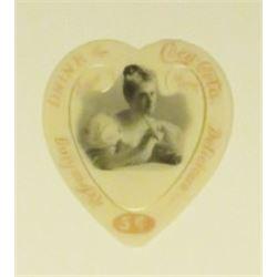 1899 Coca Cola Celluloid Heart Book Mark