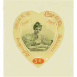 1902 Coca Cola Celluloid Heart Book Mark