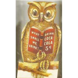 1906 Coca Cola Celluloid Owl Book Mark