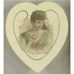 1896 Coca Cola Celluloid Heart Book Mark