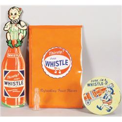 Collection of Whistle Soda Items