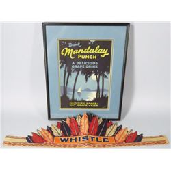 Mandalay Punch Sign and Whistle Headbands