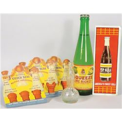Collection of Soda Advertising Items