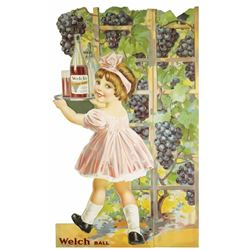 Welch's Die Cut Girl Sign