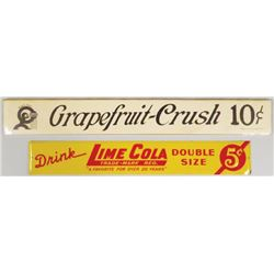 Grapefruit Crush and Lime Cola Strip Signs