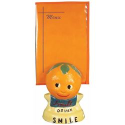 Smile Soda Chalkware Menu Holder