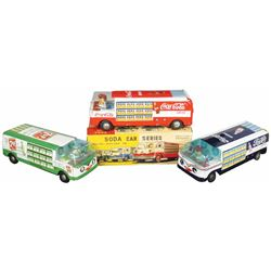 Soda Delivery Tin Toy Trucks