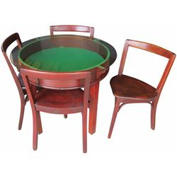 Round Mahogany Ice Cream Display Table