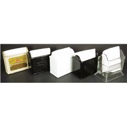 Collection of Soda Fountain Napkin Holders