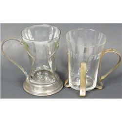Two Soda Fountain Glasses
