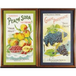 Two Soda Fountain Paper Signs