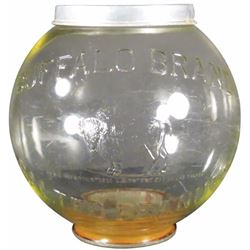 Buffalo Brand Peanuts Embossed Display Jar