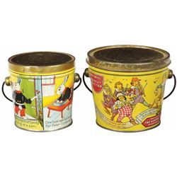 Two Early Tin Litho Pails