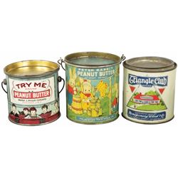 Three Peanut Butter Tins