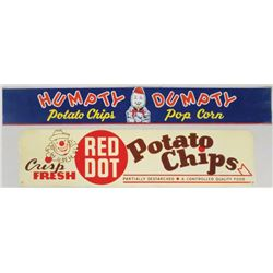Two Potato Chip Tin Signs