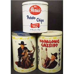 12 oz. and 15 oz. Potato Chip Tins