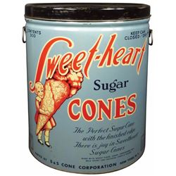 Sweet heart Sugar Cones Store Tin